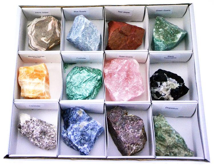 Conf. 12 minerali vari