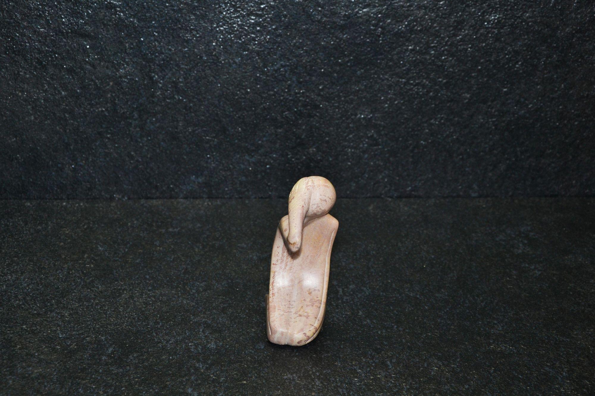 Pensatore in ginocchio