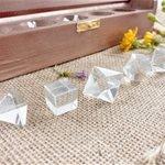 set prismi cristallo di rocca