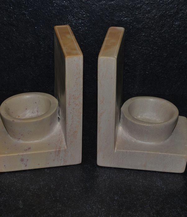Fermalibro ciotola in pietra