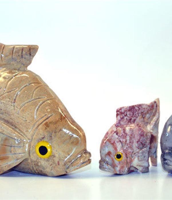 Pesce pietra cm.3