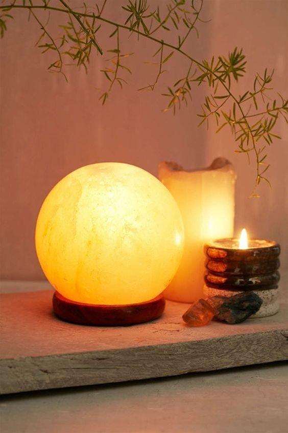 Lampada di sale sfera